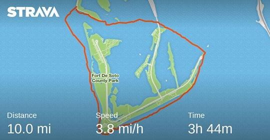 circumnavigate ft de soto in kayak