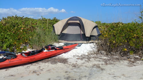 Kayak camping Shell Key St Petersburg Florida ©2019 All rights reserved