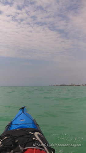 Kayaking gulf side of Lido Key Sarasota FL
