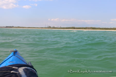 North beach of ft de soto choppy water in the kayak ©2019 All rights reserved