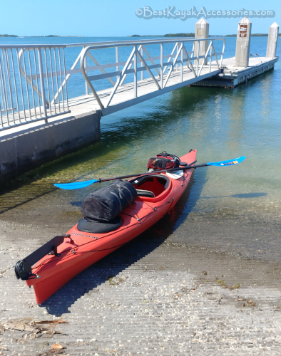 Kayak launch at Ft De Soto boat ramp St. Petersburg FL ©2019 All rights reserved