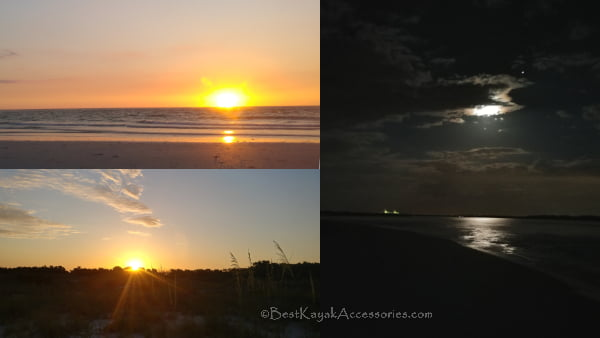 sunrise sunset moonlight at the beach of shell key ft de soto st pete beach ©2019 All rights reserved